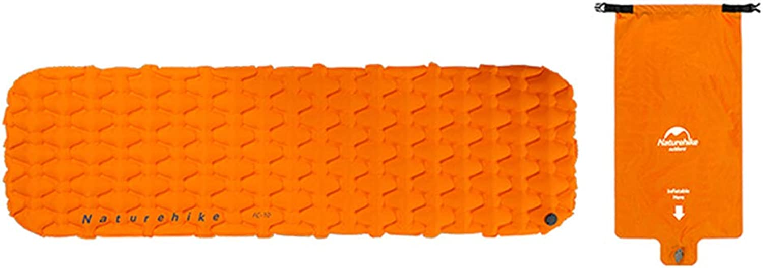 Air Mattress for Camping,Hiking,Fishing,Wulidasheng Naturehike Portable Inflatable Camping Sleeping Mat MoistureProof Air Mattress  orange with Air Bag Portable&Durable