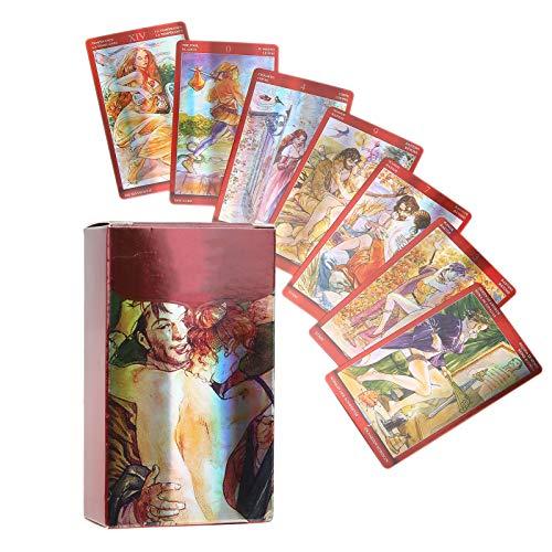 Tarjeta de adivinación, tarjeta de adivinación de fiesta duradera, para niños adultos(sexual magic tarot)