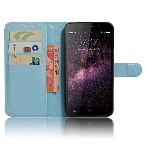 Ycloud Portafoglio Custodia per Homtom HT17   HT17 PRO Smartphone, Opaca Texture PU Pelle Magnetica Flip Caso Cover con Fessura Carte e Funzione Staffa (Grigio)