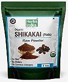 Organic Shikakai Powder, Acacia Concinna (Shikai Powder) - Best Natural Cleanser - 100% USDA Certified Organic - HerbsIndia (One Lb - 16 Oz)