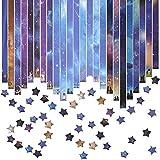 EMAGEREN Papel Origami, Origami Estrellas, Papel de Papiroflexia de Estrella, 816 Hojas de Tiras De Papel Origami, Origami Fácil para Niños, Tiras De Papel Para Manualidades, 24 Colores Diferentes