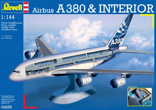 Revell Modellbausatz 04259 - Airbus A380 Visible Interior im Maßstab 1:144
