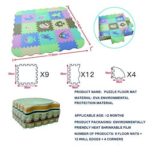 Krabbelmatte Faltbar Babymatte Spielmatte Krabbeldecke Schaumstoff Groß Rutschfest Wasserdicht 114X114x1cm