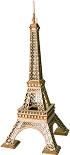 ROBOTIME Assembly Famous World Architecture Eiffel Tower Exquisite Wood Craft Kits for Kids Best Model Kits and DIY Arts Projects for Adults