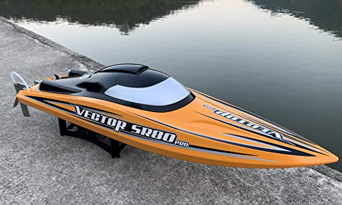 S3.0 Pro. 31.5 inches Remote Control Boat Brushless Speedboat Extreme Speed 80km/h+ Hobbies Global Limited Sales w/ Two 4200 mAh Battery for Power at Same time Full Metal Rudder