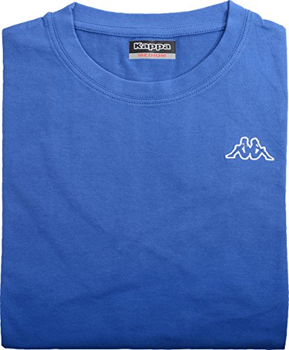 Kappa T-Shirt Basic cafers, Bleu Roi, Taille S – 3 x l - Bleu - Small