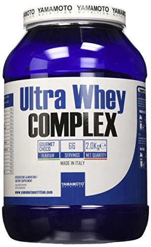 Yamamoto Nutrition Ultra Whey COMPLEX integratore alimentare per sportivi a base di proteine del siero di latte concentrate (Whey Concentrate) ed Isolate (Whey Isolate) (Cioccolato, 2000 grammi)