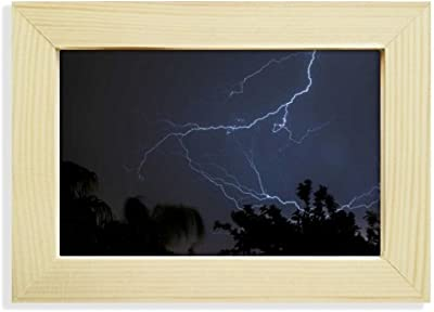 DIYthinker Night Dark Forestry Science Nature Scenery Desktop Wooden Photo Frame Picture Art Painting 5x7 inch