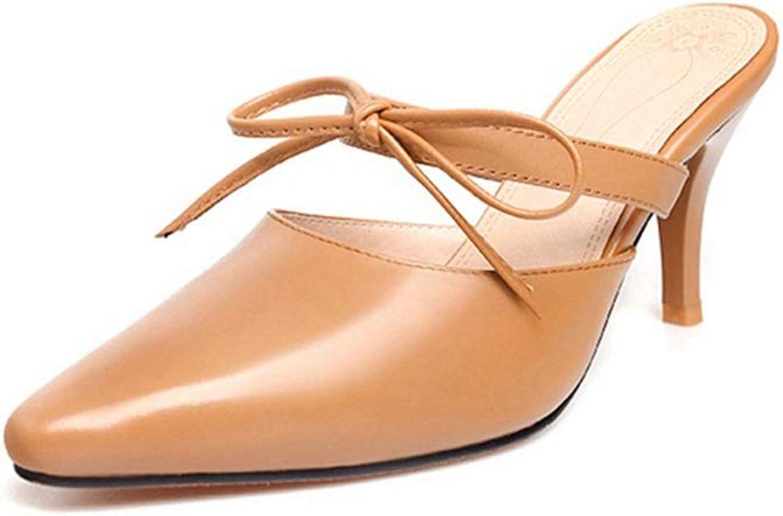 500d0a4e82a16 Women Pointed Toe Pumps Lace-up Girls Summer Dress Slip-on High Heel ...