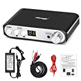 Q100 Bluetooth Amplifier 80W+40Wx2, DSP BT 4.2 Digital Bass Amp with DC 24V 3A Power Supply, 2.1 Channel Mini Class D Stereo Audio Receiver, Wireless Home Theater Power Speaker Amp (Black)