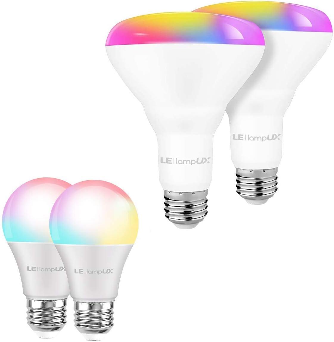 Bundle – 2 Items: A19 E26 Smart Bulbs BR30 Lig Light Topics OFFicial shop on TV