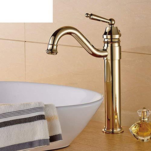 ShiSyan Faucet Faucet Antiguo Europeo/Caliente y fría Lavabo Dorado Lavabo de Lavabo Lavabo Lujoso Grifo Chapado en Oro (Color: -, tamaño: -) Cocina