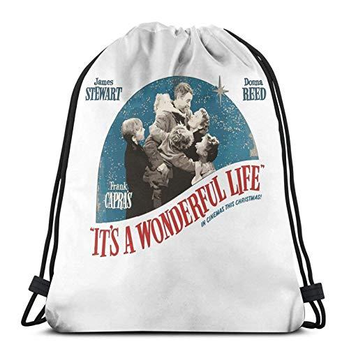 It′s A Wonderful Life - Frank Capra Sport Sackpack Drawstring Backpack Gym Bag Sack