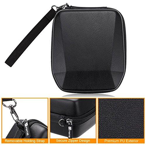 Fintie Carrying Case for Fujifilm Instax SP-3 Mobile Printer - Hard EVA Shockproof Storage Portable Travel Bag with Inner Pocket/Removable Strap - Vintage Black