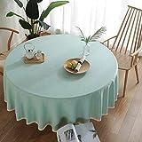 DSman Adecuado para Cocinas Exteriores O Interiores Mantel Mesa Encaje de Lino y algodón de imitación de Color de Pigmento Puro