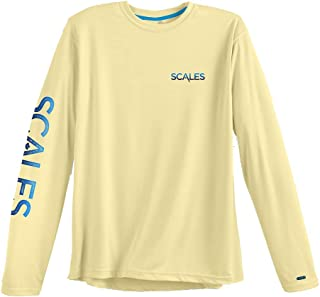 Scales Gear Mens Fishing-Shirts, Yellow, XX-Large