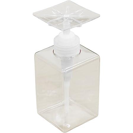 プロトワーク かたポン 洗剤 ボトル ディスペンサー プラスチック製 日本製 400ml クリア スクエア