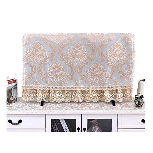 Europese Stijl TV Cover Soft Stof Monitor Cover Cloth Kan In De Machine Schoongemaakt Dust Cover, 32-65in (Size : 42in)