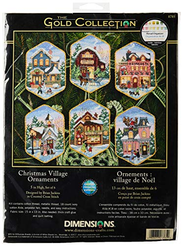 Dimensions Dimensions Gold: Counted X Stitch: Ornament: Xmas Village