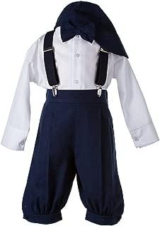 Tuxgear Boys Navy Blue Linen Knicker 5 Piece Outfit