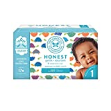 The Honest Company Club Box Happy Together Diapers with Trueabsorb Technology, Size 1, 80Count
