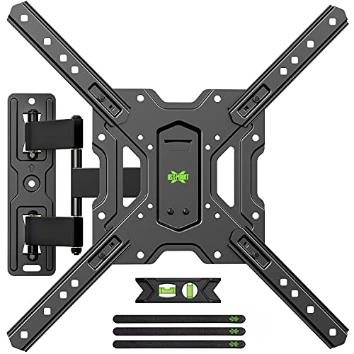 USX-MOUNT TV Wandhalterung Schwenkbar Neigbar, TV Halterung Ausziehbar für 26-55 Zoll LED LCD OLED Fernseher,VESA 75x75mm zu 400x400mm,Max Gewicht 35kg