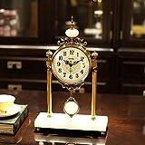 ZCZZ Reloj de Mesa, Gran Reloj de péndulo de Lujo para Sala de...