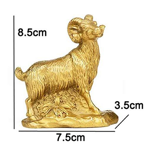 DIAOSUJIA geiten, moderne sterrenbeelden, decoratie, brons fotoje sculptuur, plaatstype