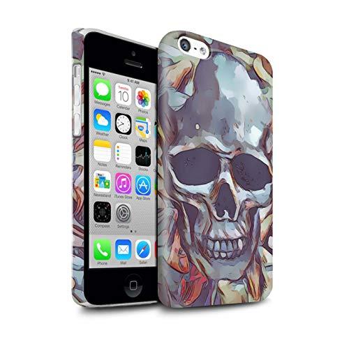 Stuff4® Duro Snap On beschermhoes/Cover/behuizing/telefoon voor Apple iPhone 5C / Calacas masker/doodskop/dag van de Morte Festival Design