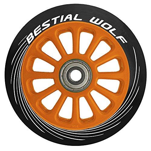 Bestial Wolf Rueda Pilot para Scooter Freestyle, Diámetro 100 mm (Naranja)
