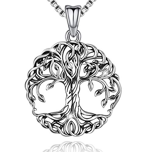 Delicate Tree of Life Sterling Silver Necklace & Pendant with for Women & Men, Mother's Day Gift