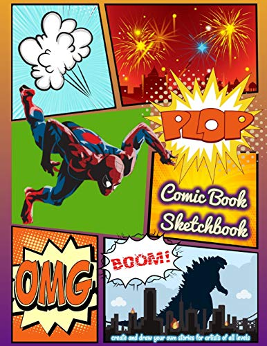 Comic book sketchbook: create and draw your own stories for artists of all levels, 100 pages of unique and variety templates - large big 8.5