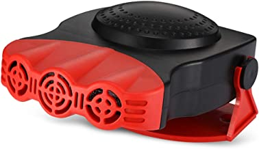 Car Fan Heater Windscreen Window Demister Defroster Winter Portable Auto Fans with Cigarette Lighter 3 Air Outlets Cooling Fan 12V 150W