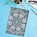 QiruIXinXi Cuaderno de Pintura de Diamantes, Hermoso Cuaderno de imágenes con Bordado de Taladro Completo en Forma de Flor, para niños y Adultos