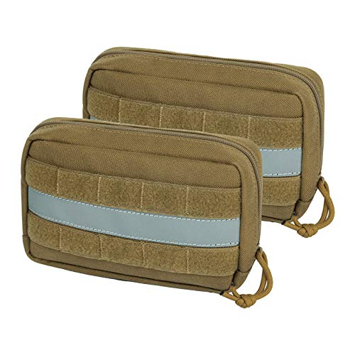 OneTigris Service Dog Vest Harness Saddle Bag Backpack Pouch, Emotional Support, Service Dog in Training,Quality Saddlebag for Tactical Dogs Vests(Coyote Brown)