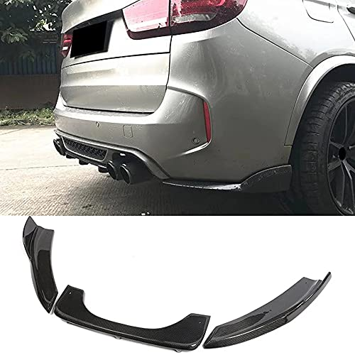 WXHKA Difusor Parachoques Labio Inferior Trasero Fibra Carbono, para BMW F85 X5 F86 X6 X5M X6M M Sport SUV 4 puertas 2014-2018, Escape De Maletero, Accesorios Exteriores Modificados