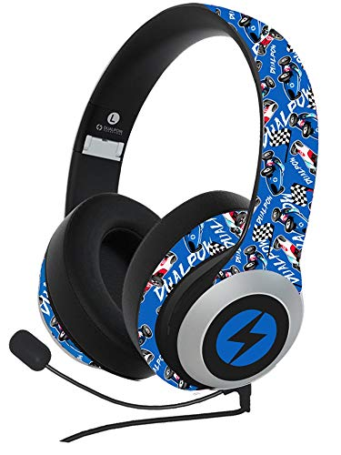 Bluetooth 5.0 Headphones,Dualpow Over Ear Gaming Homeschooling 24Hrs Playtime Headset Microphone for iPhone/Android/IPAD/Tablets/TV/Chromebooks & ONLY Wired for PS4,Switch,Xbox (DUALPOW Boys)