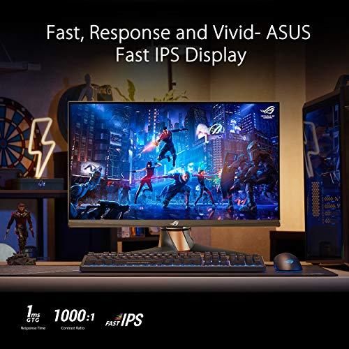 ASUS ROG Swift 360Hz PG259QN 62,23cm (24,5 Zoll) eSPorts Gaming Monitor (Full HD, Fast IPS, Nvidia G-Sync, HDR, HDMI, DisplayPort, 1ms Reaktionszeit) schwarz
