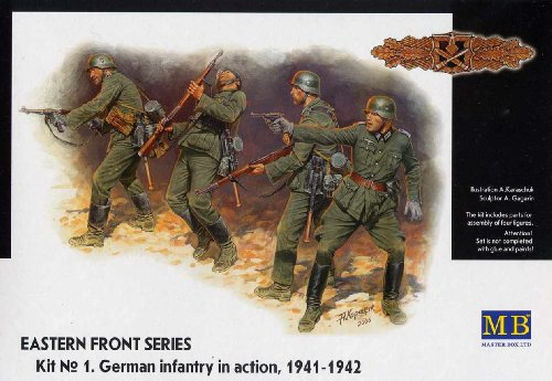 Masterbox 3522 Eastern Front Series Kit 1 German Infantry in Action (1941-1942) 1:35 Plastic Kit Maquette