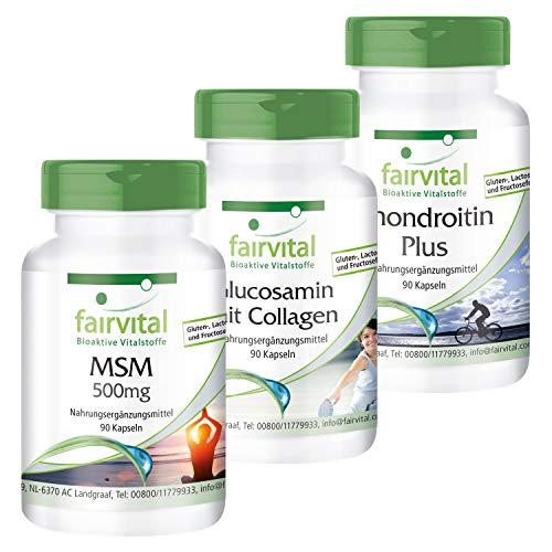 Arthro Protect Forte, 270 Kapseln, Gelenk-Komplex mit Glucosamin, Chondroitin, Collagen, Hyaluronsäure, MSM, Calcium, Vitamin D u. E
