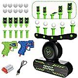 Kit de Juegos de Tiro, Juguetes de práctica de Tiro Flotante eléctrico Luminoso + 10 Piezas de Bola Flotante + 5 Piezas de Dardos Suaves + 2 Piezas de Pistola de Juguete para Adultos y niños