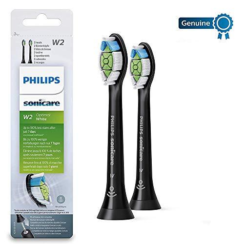 Philips Sonicare Optimal bianco DiamondClean Brushsync abilitato testine di ricambio, Nero, confezione da 2, 2018