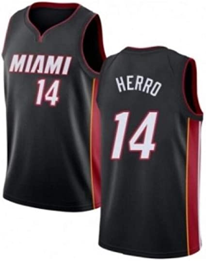 Mens Fan Edition Sleeveless Vest Breathable Sleeveless Sports Fitness T-Shirts Fans Basketball Uniform Basketball Jersey Tyler Herro # 14 Miami Heat