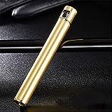 ZLZNX Briquet à Gaz ButaneMini Allume-Cigare, Peut être placé dans Une boîte à Cigarettes, Accessoires de Cigarettes pour Hommes Gadget,Gold