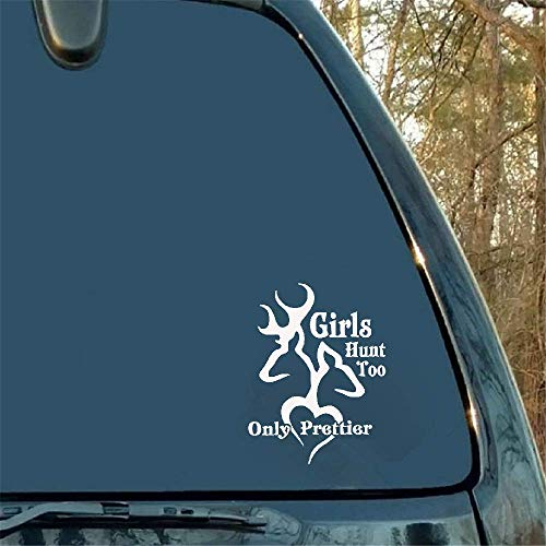 11,5 x 15,2 cm Browning Deer Girls Hunt Too Logo plezier auto sticker deur embleem voor Ford accessoires Opel Toyota Camry Jeep Peugeot