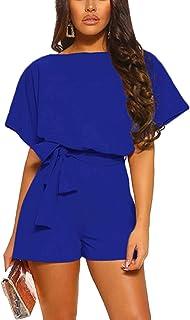 KIRUNDO Women's Summer Solid Casual Short Sleeve High...