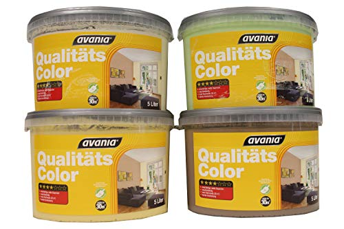 Avania Bunte Wandfarbe Qualitätscolor konservierungsmittelhaltig matt 5 Liter Farbwahl, Farbe:Vanille