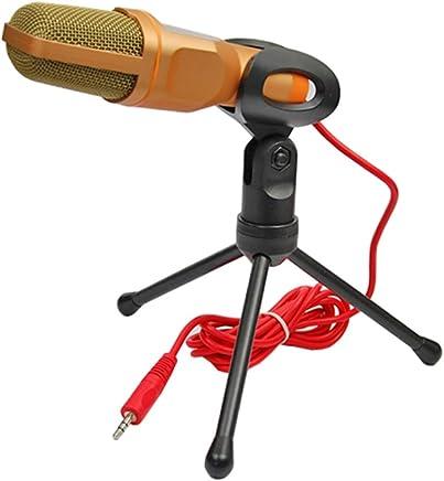 NanYin Nuovo Microfono da Studio Professionale con Microfono per Podcast per PC con Microfono Skype per MSN (Color : Gold Without Cover) - Trova i prezzi più bassi