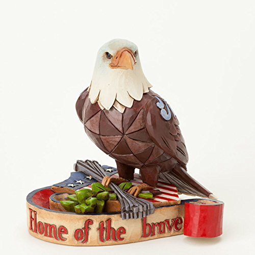 Jim Shore Heartwood Creek Mini Patriotic Eagle Stone Resin Figurine, 3.75""