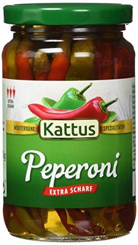 Kattus Rote und grüne Peperoni - Typ Balkan, extra scharf, 4er Pack (4 x 320 g)